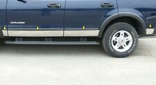 FITS FORD EXPLORER W/FLARES 02-05 POLISHED STAINLESS CHROME ROCKER PANEL TRIM
