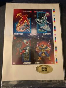 1992 Limited Edition Marvel Promo Cards Uncut SHEET New sealed