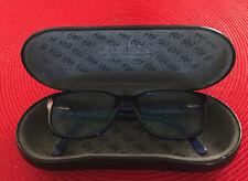 Guess Ce Eyeglasses Frame Gu9104 Black/Bl Stripe Lens Clear  48-15-135