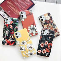 Marble Flower Matte Phone Soft Case Cover For iPhone 11 Pro Max XR XS X 8 7 Plus