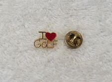 CLASSIC PIN BROOCH GOLF CLUBS TEE BALL 18 HOLES COURSE STROKE GRIP METAL NICHOLA
