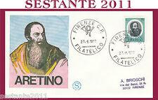 ITALIA FDC FILAGRANO PIETRO  ARETINO 1977 ANNULLO FIRENZE H238
