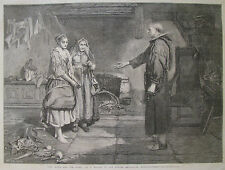 THE BIBLE AND THE MONK BY JOHN PETTIE 1865 ILLUSTRATED LONDON NEWS
