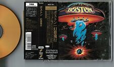 BOSTON Boston JAPAN 24k GOLD CD w/OBI+20p Pic Sleeve Booklet ESCA7501 Free S&H