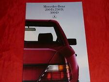 MERCEDES W124 Limousinen 200 D 250 D 300 D Prospekt von 1985