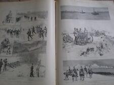 The Volunteer Easter Manoeuvres 1890 old army prints