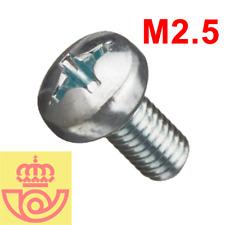 (lote 20pcs) Tornillo acero M2.5 5mm cabeza Philips (Arduino, prototipos, PCB)