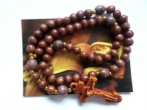 Wooden Prayer Rope 50 Knots Rosary Beads With A Cross  Православные Четки