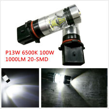2x P13W 6500K 100W 1000LM 20-SMD 2323 HID White Fog Lamp Driving DRL Light Bulb