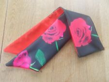 HEAD SCARF HAIR BAND roses RED ROCKABILLY SWING BUNNY NECK BOW pin up GLAMOUR