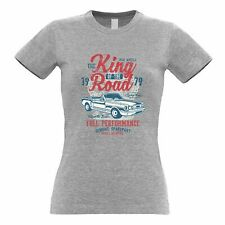 Retro Car Womens TShirt King Of The Road 1979 Racing Art Speed Engine Racer