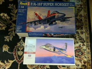 1/48 Scale Hasegawa TF-104G STARFIGHTER & Revell F/A-18F SUPER HORNET