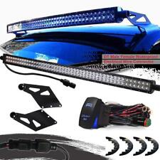 """2003-2009 Dodge RAM 2500 3500 50"""" LED Light Bar + Upper Roof Mount Brackets US"""