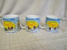 G6  1988 CALIFORNIA RAISINS - Limited Edition - 3 Christmas Mugs - All Different