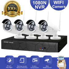 4CH Wireless WIFI 1080N CCTV DVR Kit Outdoor 1080P IP Camera Security NVR System