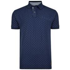 KAM Men's Big Size Pure Cotton Dobby Dot Print Pique Polo Shirt with Pocket