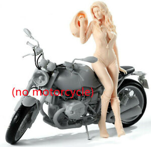 1/9 Resin Figure model Sexy Leather Pants motorcycle girl Unassembled Unpainted