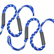 2X Marine Bungee Dock Line Boat Mooring Rope Anchor Cord Stretch Blue Crinkle