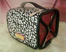 Victorias Secret Makeup Bag Train Case Set Hanging Travel Cheetah & Lace NWT
