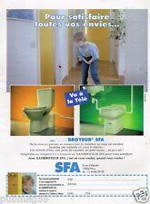 Publicité Advertising 1996 Sanibroyeur SFA