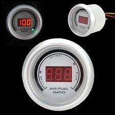 "Car 2"" 52mm Red Digital Color 20 LED Air Fuel Ratio Gauge Meter White"