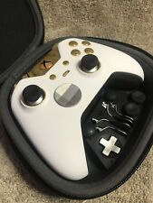Elite Xbox One 1 Controller - Custom WHITE Shell,Led,Gold Buttons, ABXY, Rings