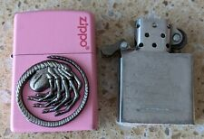 More details for original zippo brass pink lighter - customised for aliens movie - used
