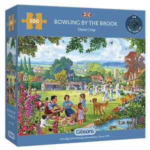Gibsons 500 piece jigsaw puzzle - Bowling By The Brook -Steve Crisp - New