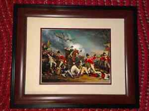 Framed Battle of Princeton Revolutionary War Painting Real Canvas Art Print