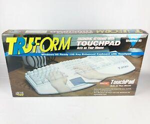 NEW SEALED TruForm Adesso Ergonomic Keyboard w/ Touchpad Windows 95 PCK-308T