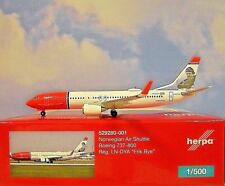 Herpa Wings 1:500  Boeing 737-800 Norwegian LN-DYA  529280-001  Modellairport500