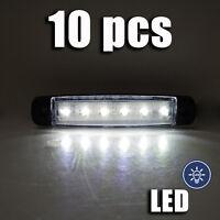 10 x 24v LED BLANCA LUZ DE Marcador Lateral Posición para Scania DAF MAN VOLVO