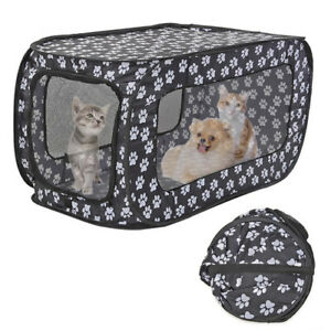 2021 Portable pet tent house foldable pet fence cat and dog travel cage 87CM