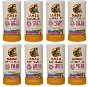 IAMS Natural Cat Treat Freeze Dried Duck Breast Pure Meat 8x25g BesBef 02March21