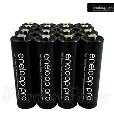 16 x Panasonic Eneloop PRO AA batteries 2500mAh Rechargeable High capacity Ni-MH