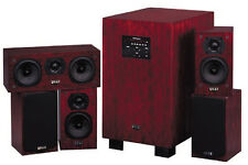 QUAD L-ITE 5.1 SPEAKER SYSTEM ROSEWOOD PIANO GLOSS 65% OFF RRP $3499