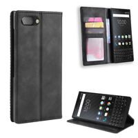Flip Leather Magnetic Wallet Case Stand Cover For BlackBerry PRIV Keyone Key 2