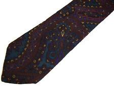"Damon Mens Necktie Tie Blue Purple Paisley 100% Silk 58"""