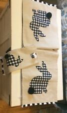 New listing Pier 1 Imports Bunny Rabbit Table Runner And Matching Tea Towel