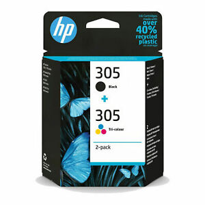 HP 305 Black & Colour Ink Cartridge For DeskJet 2710 Printer, 3YM61AE 3YM60AE