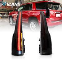 VLAND Smoked For 2015-2020 GMC Yukon Tail Lights LED Brake Escalade Style