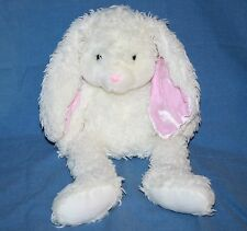 "Harvest Moon EASTER BUNNY RABBIT 19"" White Furry Plush Soft Toy Pink Long Ears"