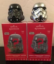 Hallmark 2017 Star Wars Imperial Stormtrooper Surprise Ornament Black And Silver