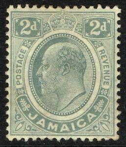 SG 57 JAMAICA 1911 - 2d GREY - MOUNTED MINT