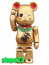 Medicom 100% Bearbrick ~ Sky Tree Lucky Cat Be@rbrick Gold Neko Ver 4