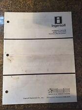 Case INGERSOLL Hydraulic Vacuum Model HVFB, HVFC Operator's Manual 8-56401
