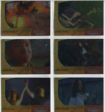Smallville Season 3 Complete Departures Chase Card Set D1-6
