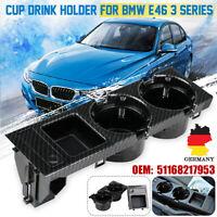 Getränkehalter Mittelkonsole Ablagefach mit Münzbox Carbon Farbe Für BMW 3er E46