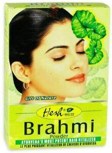 Herbal Hair Powder Brahmi Hesh Hair Vitalizer Pure Natural Ayurveda's 100gm UK