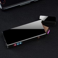 Double Arc Lighter Cigarette Smoking Rechargable Windproof Laser USB Lighter